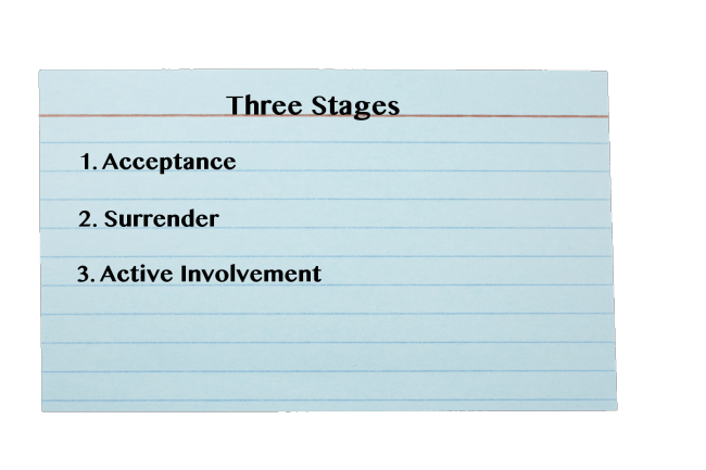 three stages to the twelve step program